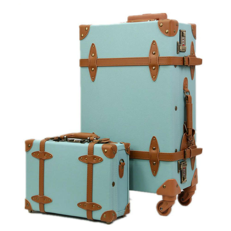 Buy New Women Denim Vintage Luggage Travel Suitcase Universal ...