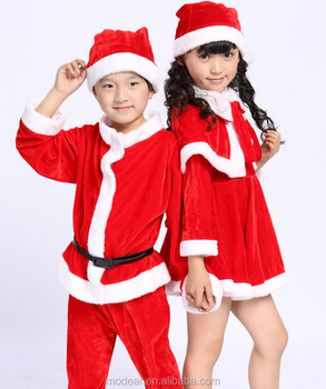 christmas costume for children suit and dress boys and girls long sleeve kid santa claus clothes