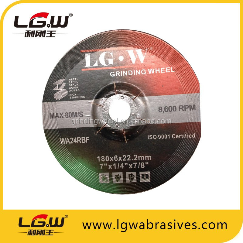 LGW T27 ALL SIZES Depressed Center GRINDING WHEEL FOR METAL OR STAINLESS STEEL