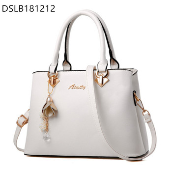 Latest Style PU Leather Handbag Ladies Tote Bag Fashion Hand Bag with Straps