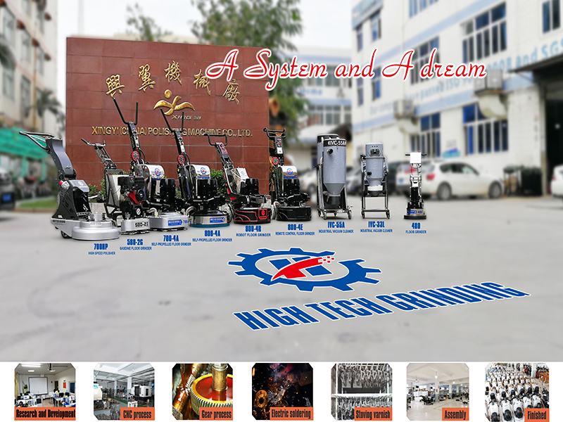 Terrazzo ,marble floor grinding polishing machine