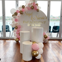 acrylic round plinth pillar pedestal for wedding and events