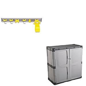 KITRCP199300GYRUB7085   Value Kit   Rubbermaid Double Door Storage Cabinet    Base (RUB7085)