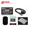 "2016 Newest arrival 5.5"" screen E300 Head Up Display plug and play OBD II HUD speed alarm warning system work on all cars"