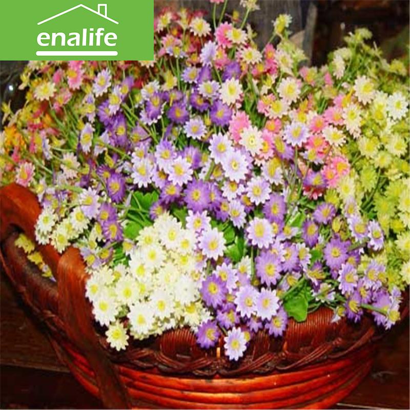 Spring Daisy High Quality silk flower Artificial Flowers Fall Vivid Peony Fake Leaf Wedding Home Party Decoration