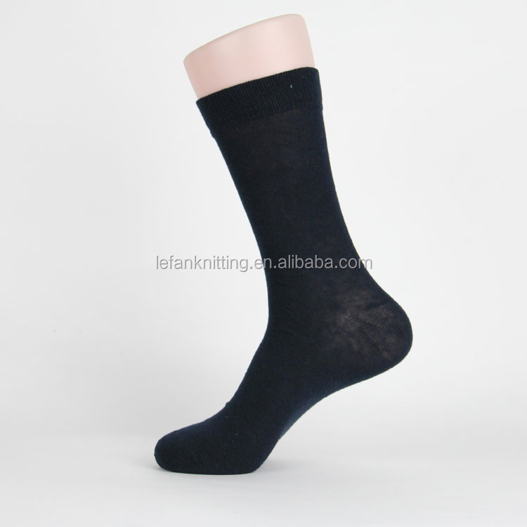 solid color classic black men custom dress socks with logo
