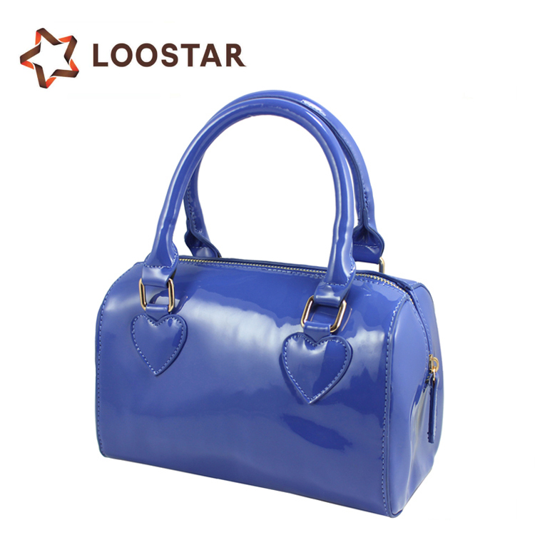 2015 Fashion Women Glossy PU Bags Ladies Patent Leather Handbags Little Girl Bag Woman Handbags