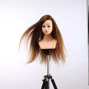 Wholesale price beauty school teaching tools US hot sales human hair mannequin training head with shoulders