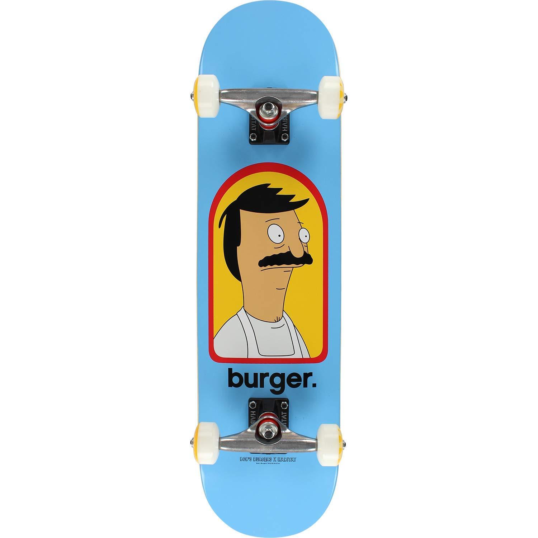 "Habitat Skateboards Bob's Burgers Burger Complete Skateboard - 7.75"""