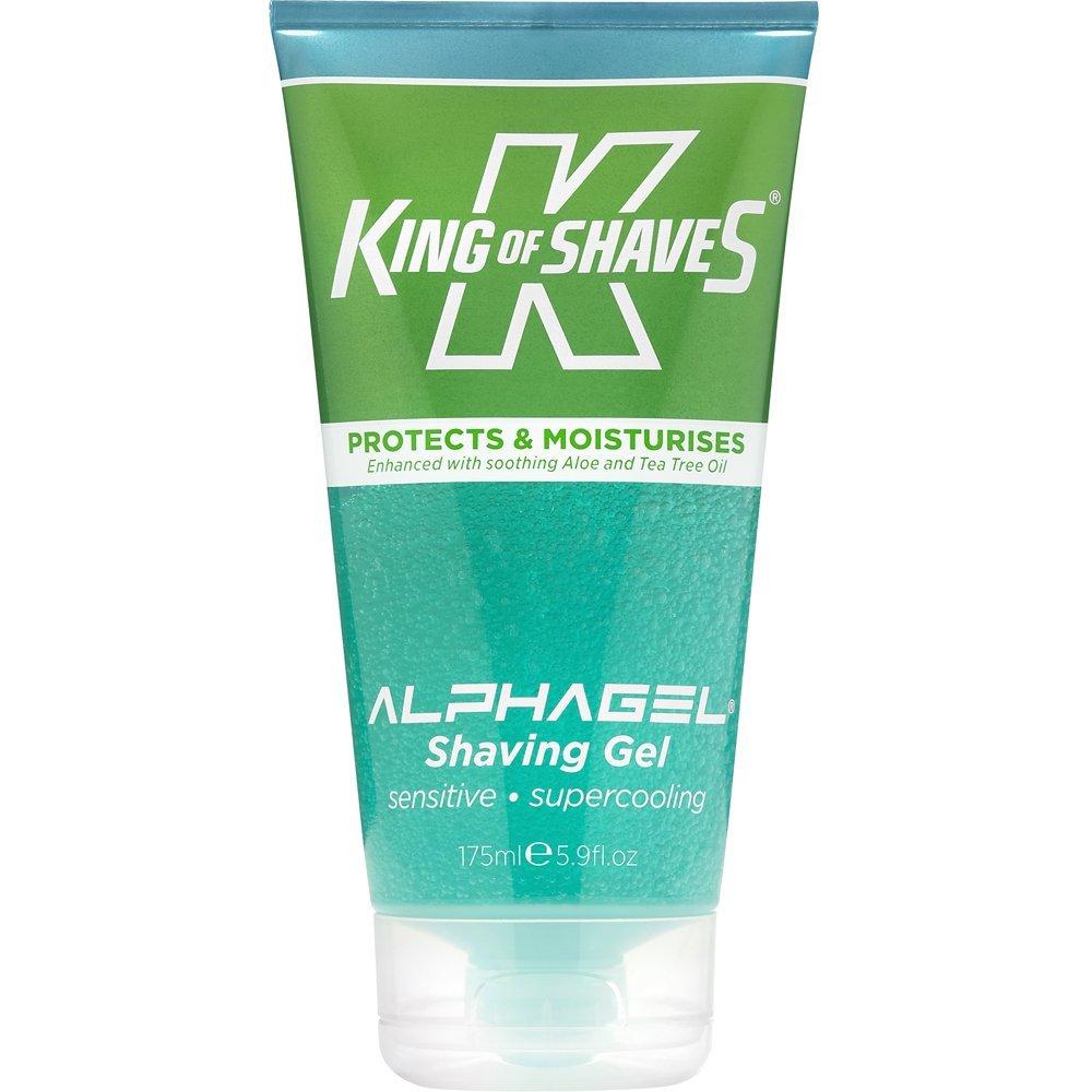 King of Shaves Alpha-Gel Cooling Menthol Shaving Gel - Aloe and Tea Tree, 5 Oz (2 Pack)