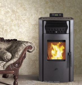 Big view 11kw indoor wood pellet stove