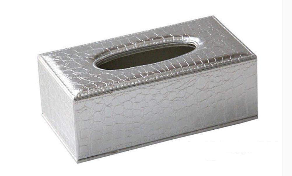 European Style Alligator Pattern Pu Feather Tissue Box Napkin Holder Lovely Rectangular Cover Car