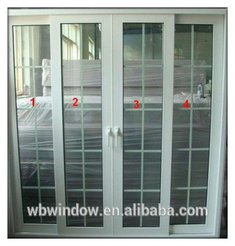 Pvc Sliding Door With Double Glass And Grill Design Buy Interior Sliding Doors