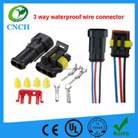3 way Sealed Waterproof Electrical Wire Connector 282087-1 Plug Set