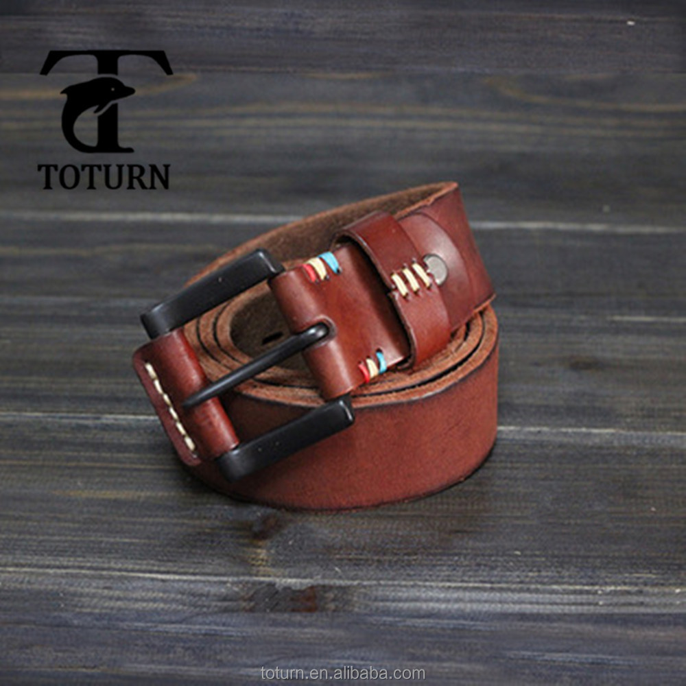 Mens leather genuine designer automatic quality buckles in bulk cattlehide skin belts for man