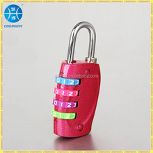 Latest Travel luggage lock digital combination lock with colorful wheels