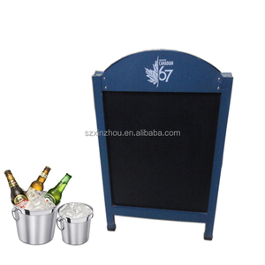 portable chalkboard with stand wooden blackboard