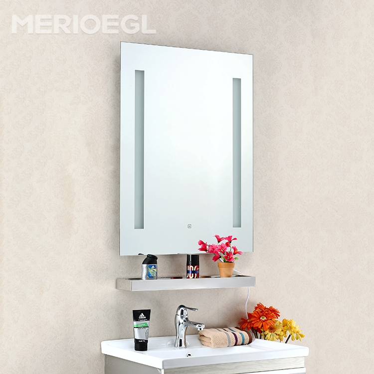 2017 New product rectangular bathroom makeup mirror cabinet with led light