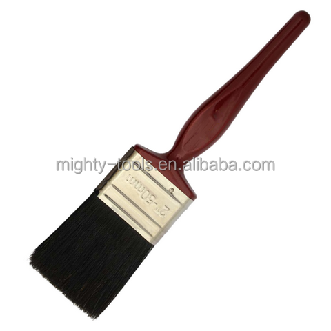 "2""High Quality Natural Bristle With Japanning Oven Wooden Handle Paint Brush"