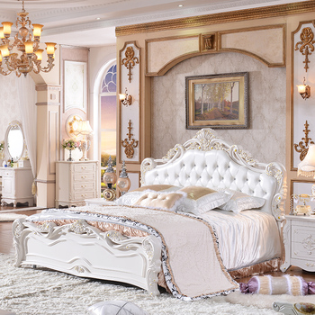 Amazing Best Selling Latest Design Double Bed Set Euro Style Bedroom Furniture