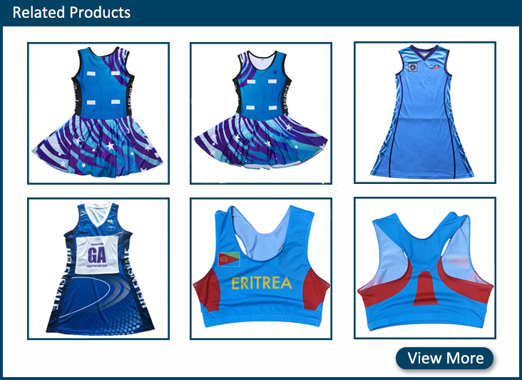 2018 China manufacture design your own netball dress