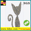 high quality rhinestone/crystal sticker,sexy cat for design