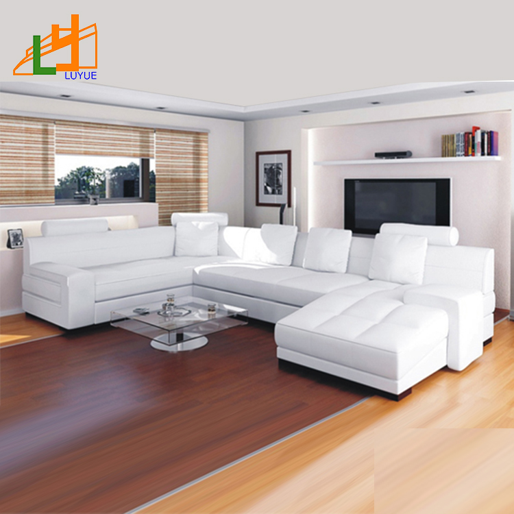 New Design U Shaped Sectional Sofa Luxury Furniture Living Room White  Leather Corner Sofa With Couch - Buy Leather Corner Sofa,Furniture Living  Room ...