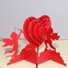 Angels heart Cupid design 3d pop up greeting card for valentine's day