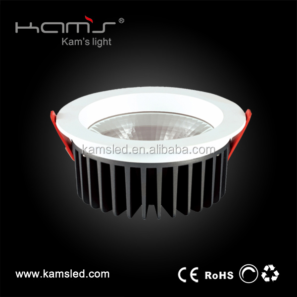 COB SMD ceiling downlight of 60 / 90 degree wide viewing angle chinese import sites