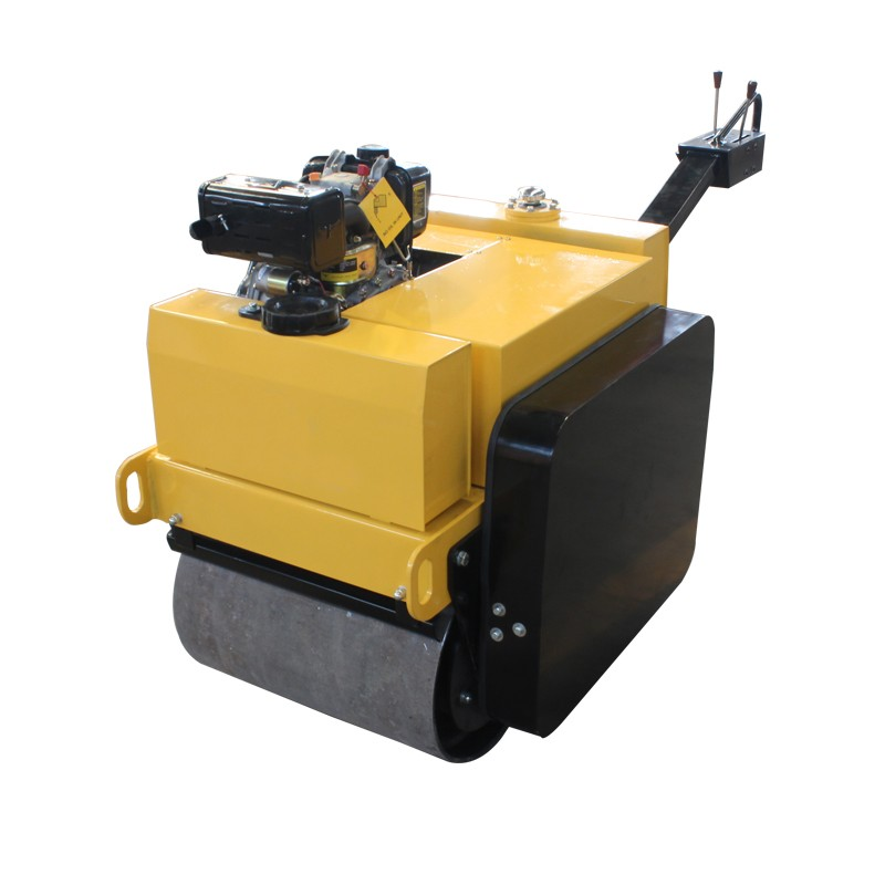 Flexible steering double drum vibratory road roller for sale