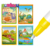 Kids play coloring drawing set dinosaur world magic water painting book