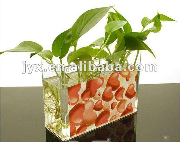 Transparent Acrylic Rectangular Flower Vases Buy Acrylic