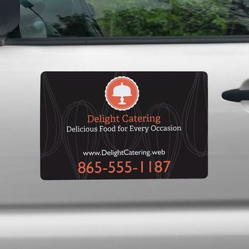 Custom Uv Resistant Reusable Magnetic Car Decal Sticker Door Product On