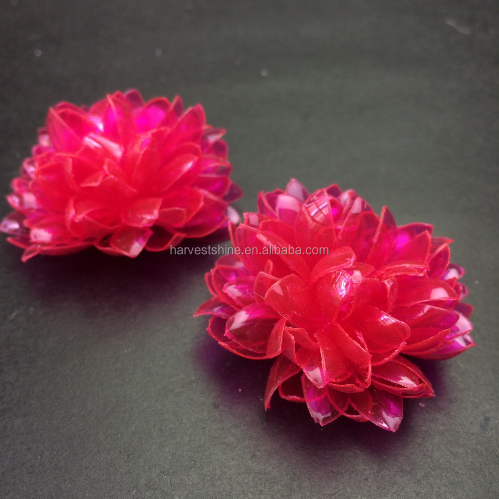 Seasonal Trendiest Neon Plastic Lotus Flowersdiy Slippery Solid