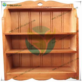 Vintage E Rack Wall Shelf Curio Wood Country