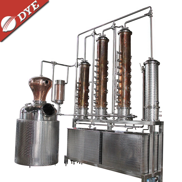 500 Litres reflux vodka distiller 6 plates copper column distill equipment home alcohol distillers(UL certificate)