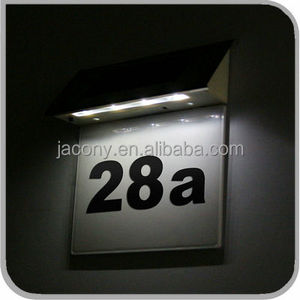 Solar house door number sign light (JL-6551)