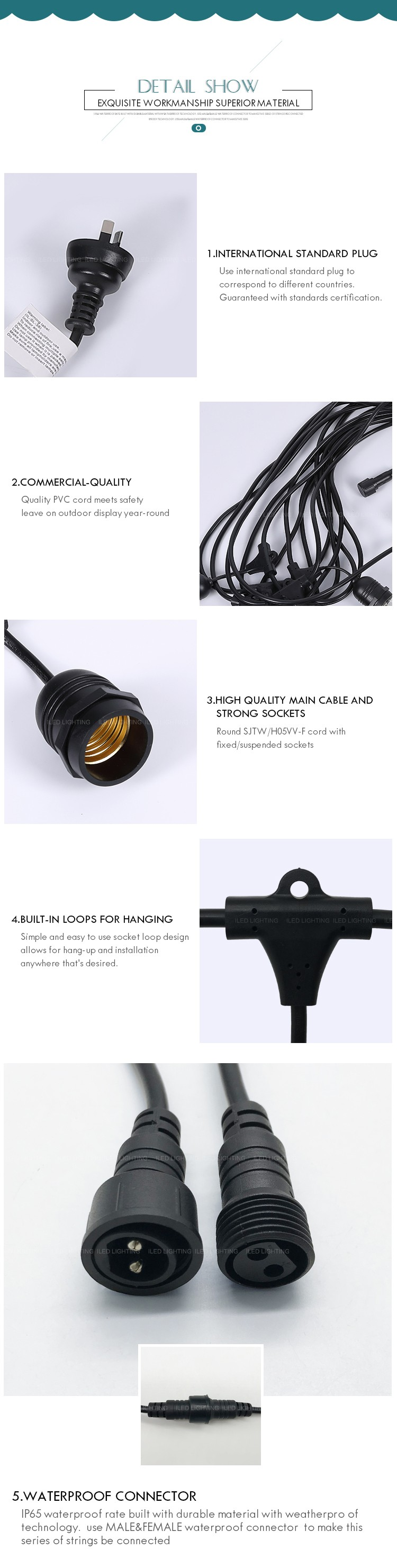 2018 New Outdoor Decorative 144m 48ft 18awg With E26 Hanging Socket Wiring Up An Product Details