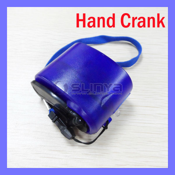 Emergency Mobile Phone Charger Hand Crank Wind Up Charger Dynamo