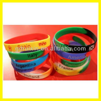 Made In China Country Logo Silicone Bracelets On Wholesale