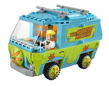 2016 Bela 10430 The Mystery Machine Sco Doo Fred Shaggy Zombie Zeke Minifigures toys building blocks