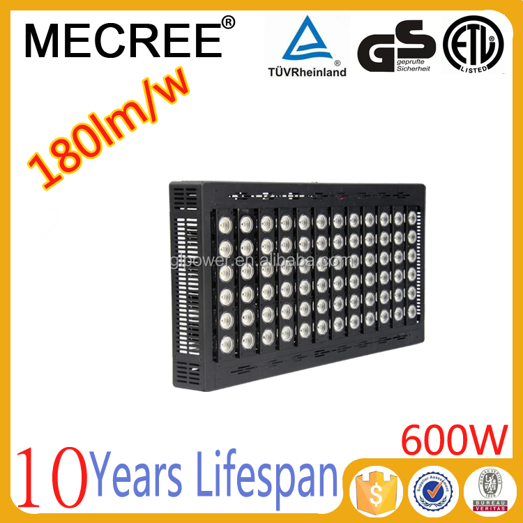 600w high lumen flux led panel light with Premium precise optical lens angle system for Soccer airport lighting