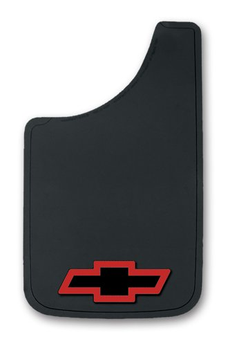 "Chevy Red Bowtie Easy Fit Mud Guard 11"" - Set of 2"