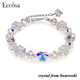 Eccosa Crystal Heart Beads Magic Jewelry Bracelet For Women Crystals From Swarovski
