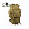 65L military combat rucksack camping backpack bag OD green
