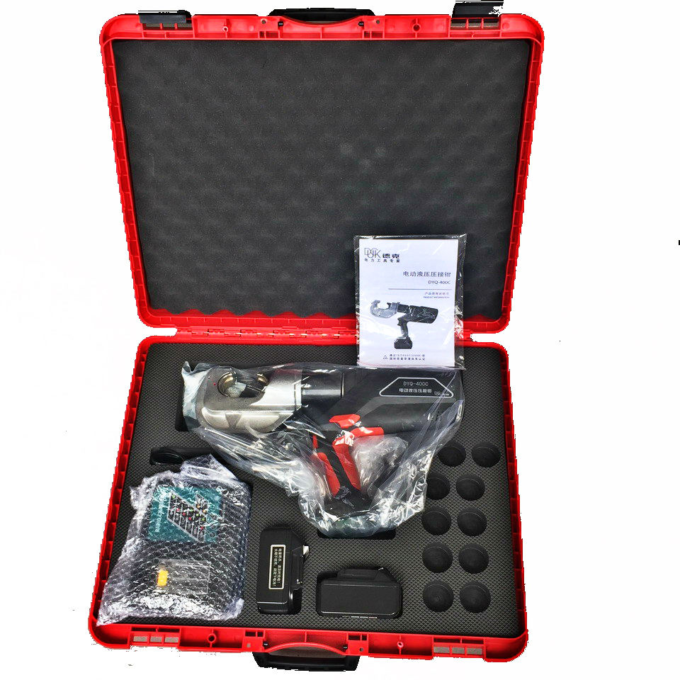 New product 14 Tons hydraulic crimping  tool16-400mm cordless battery cable lug terminal electric crimper tool