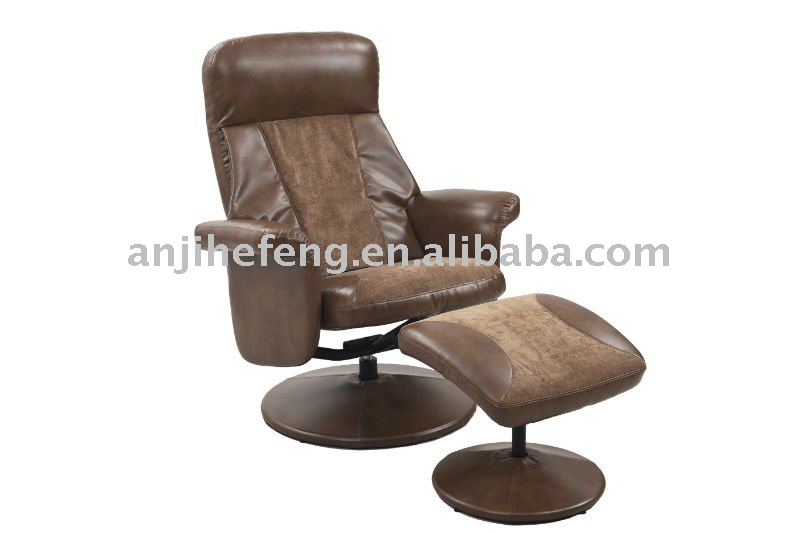Bonded leather massage TV chair recliner chair with ottoman