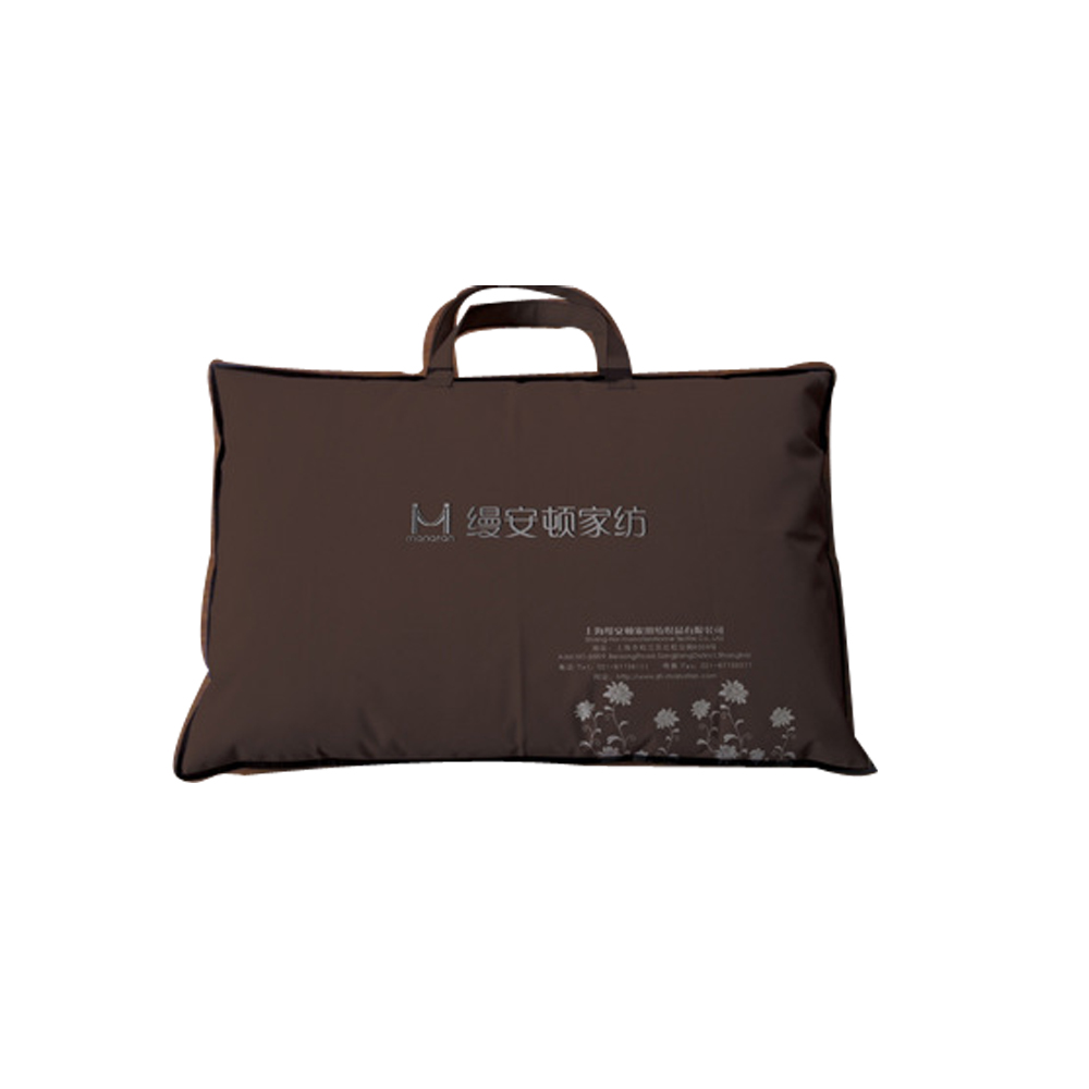 Custom pillow packaging bag pillow carrier bag with logo