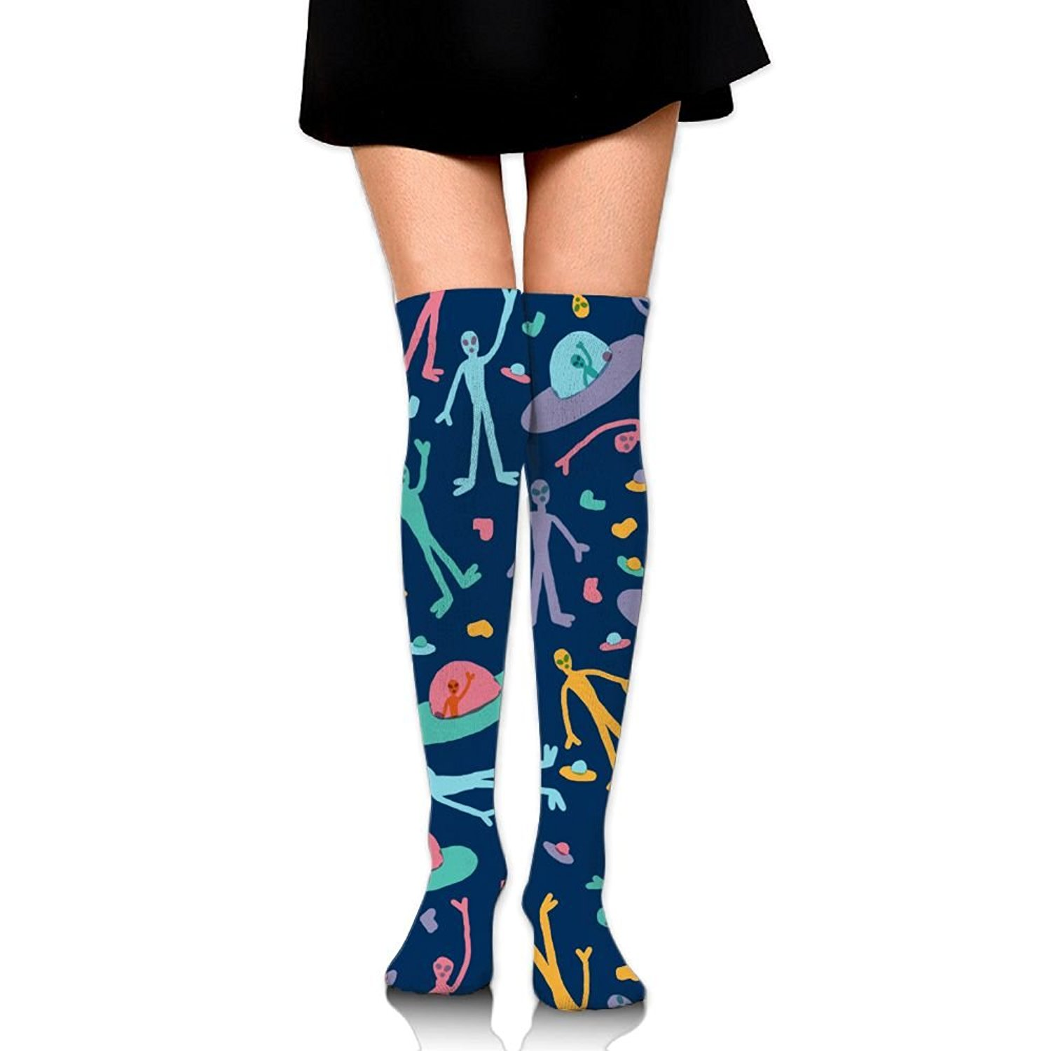 Zaqxsw Alien Women Cool Thigh High Socks Thermal Socks For Womens