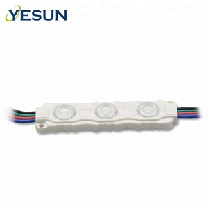 New 3 chips 5050 RGB led module with lens 12v waterproof high Brightness module led light outdoor for channel letter